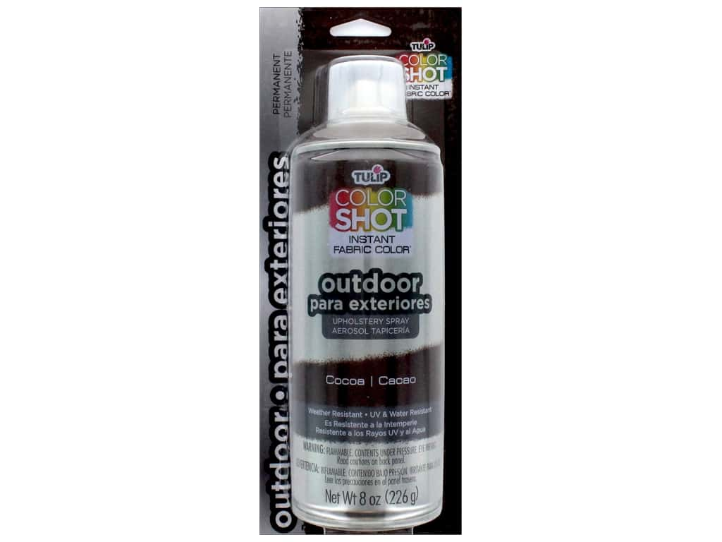 Tulip Color Shot Outdoor Upholstery Spray 8oz Cocoa