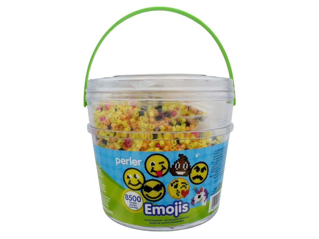 Perler Fused Bead Kit Bucket Emoji 8500pc