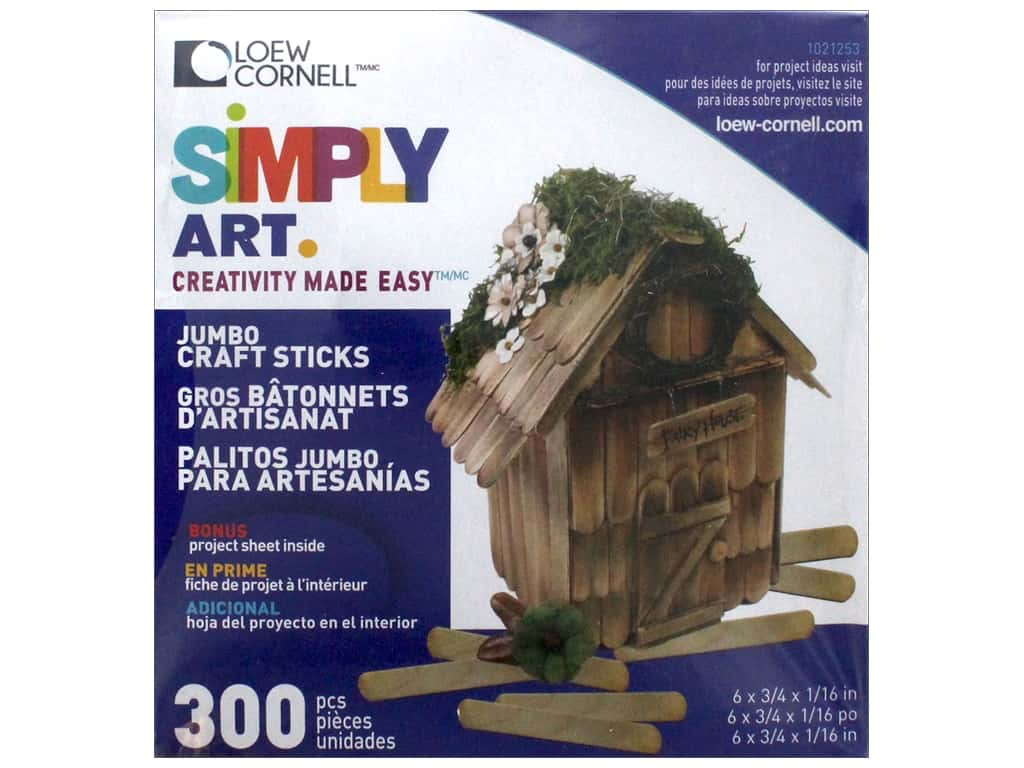 Simply Art Craft Sticks - 300 total