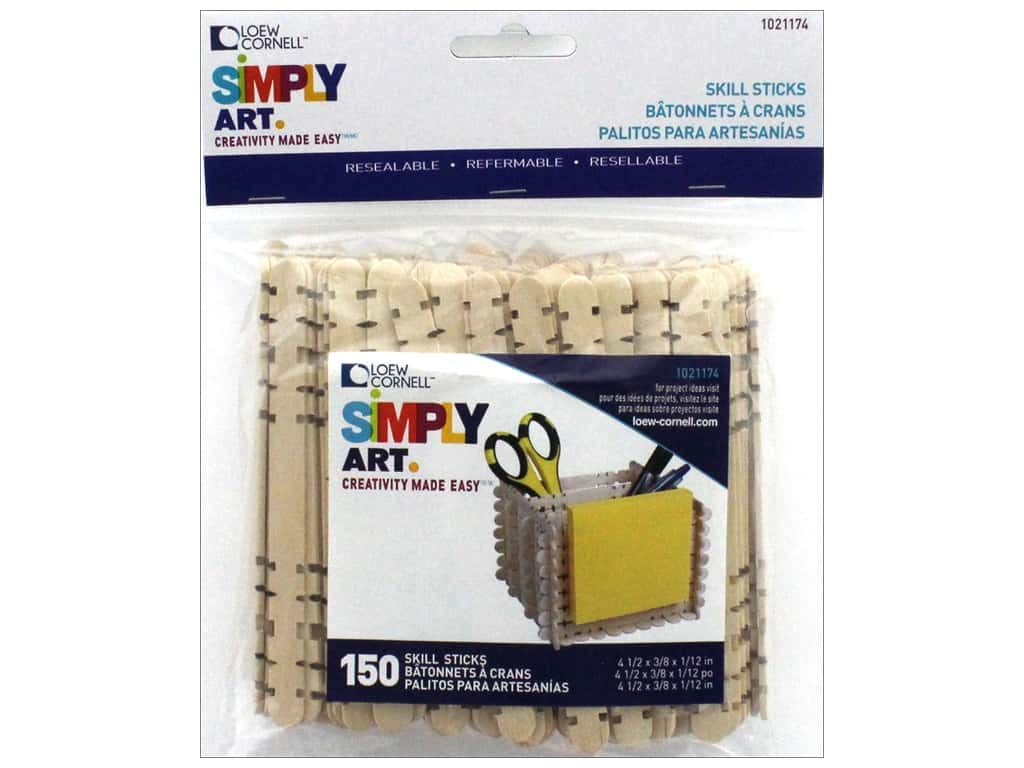 Loew Cornell Simply Art Skill Sticks 150 pc.