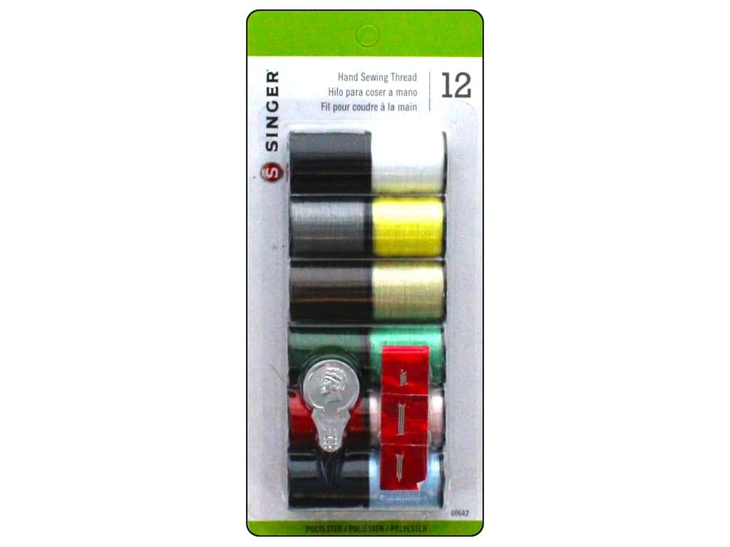 Singer Thread All Purpose Polyester Hand Sewing Assorted 12 pc.