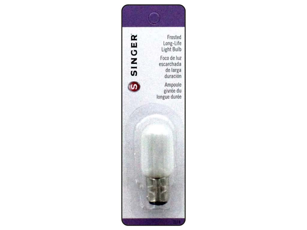 Singer Notions Machine Light Bulb Long-Life Frosted Push-In