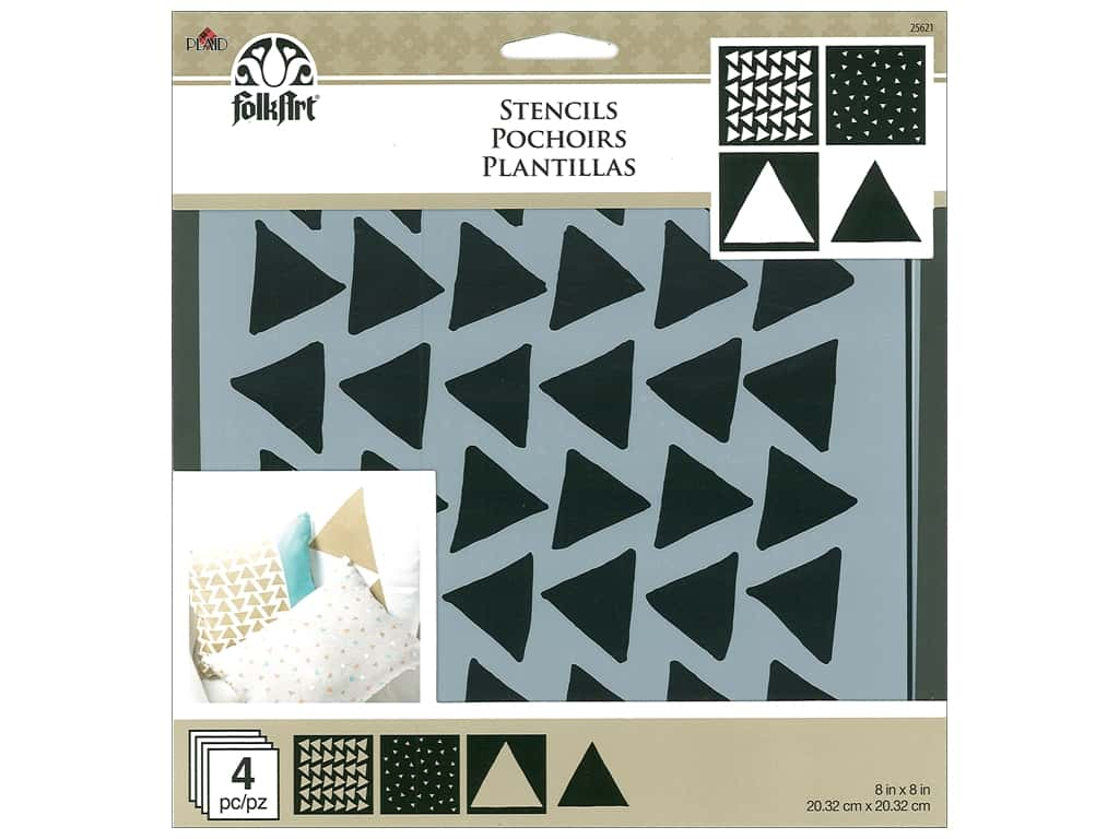 Plaid FolkArt Craft Stencils Value Packs - Triangles