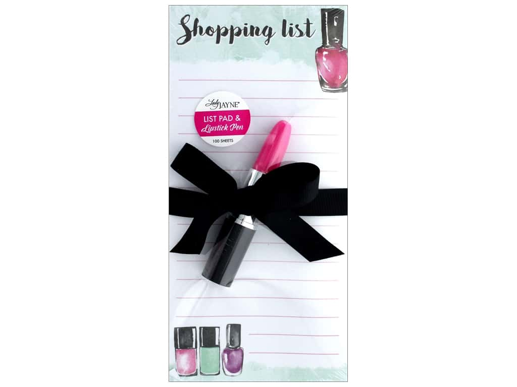 Lady Jayne Note Pad Magnetic List With Pen Washy Polish