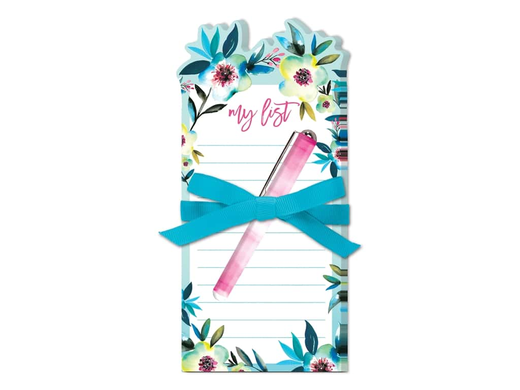 Lady Jayne Note Pad Die Cut With Pen Tropical Floral