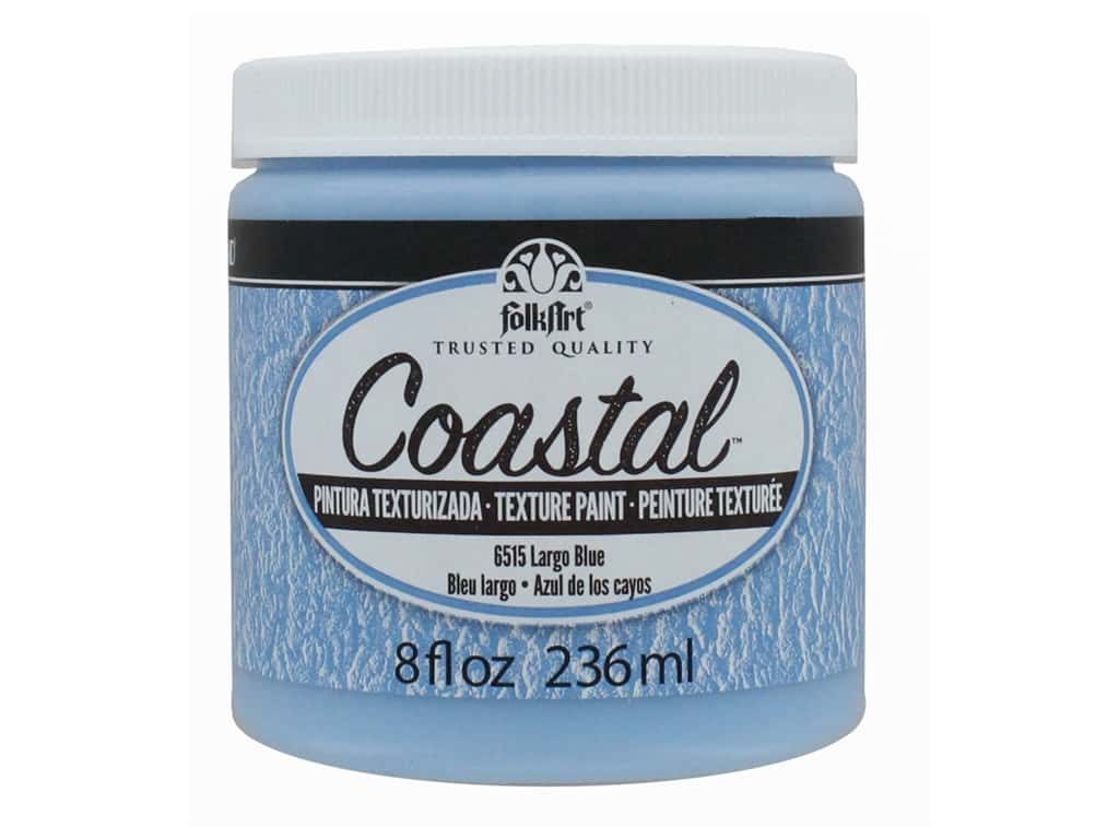 Plaid Folkart Coastal Texture Paint 8 oz. Largo Blue