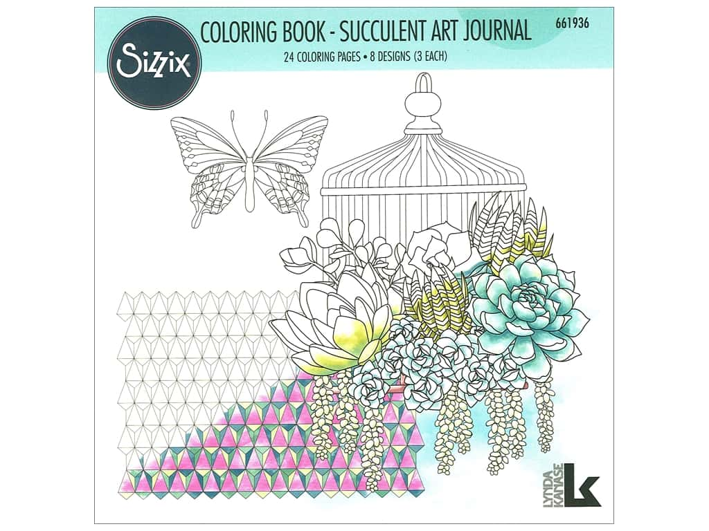 Sizzix Lynda Kanase Coloring Book Succulent Art Journal