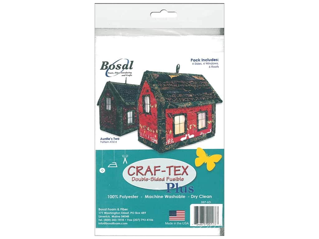Bosal Craf Tex Plus Fusible Double Sided House Kit
