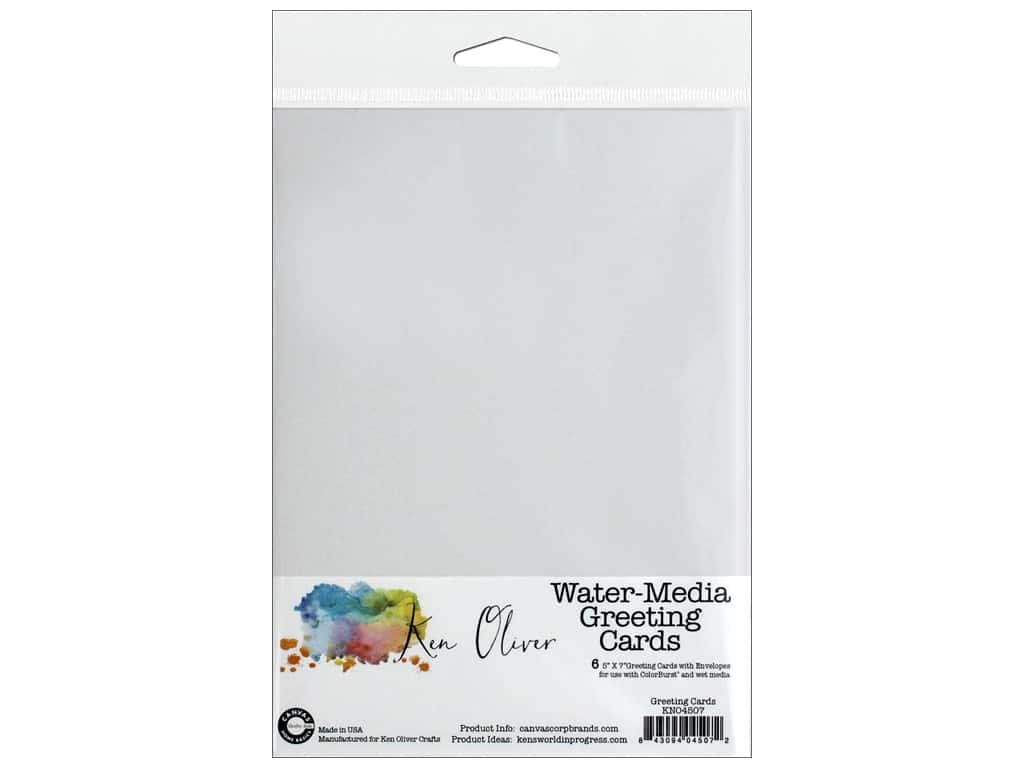 Canvas Corp Ken Oliver Water-Media Greeting Card & Envelope