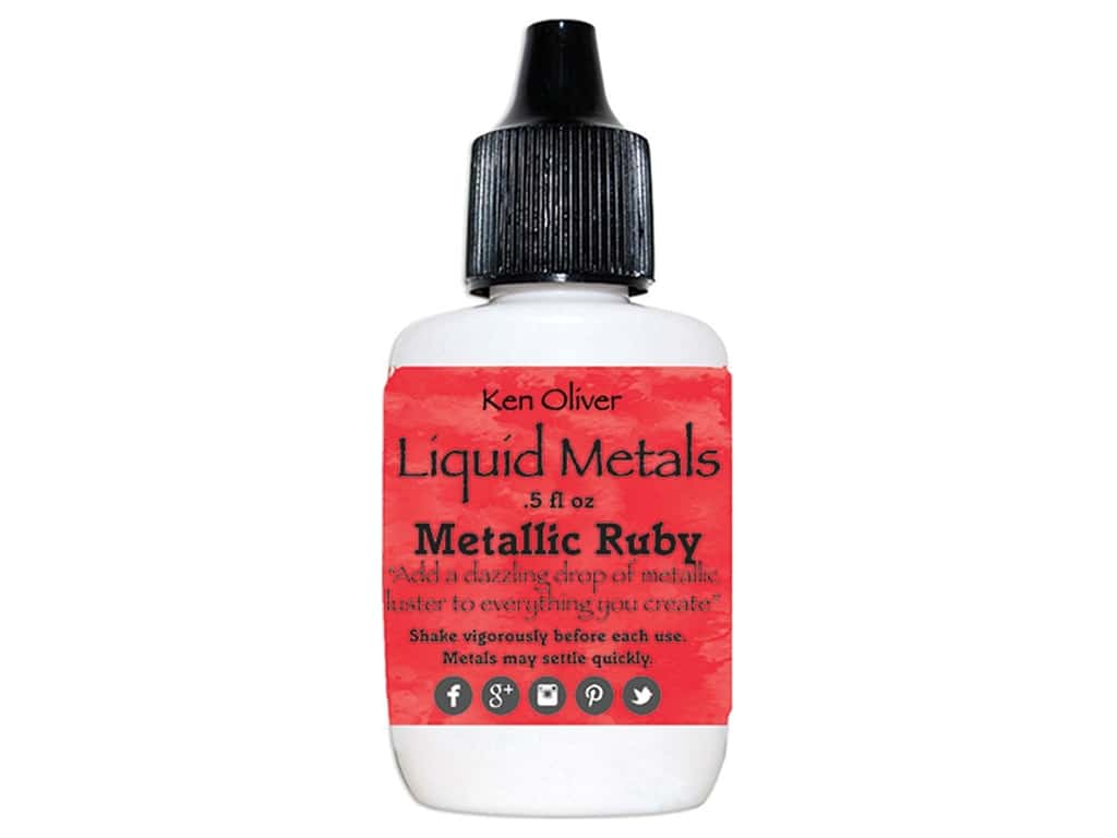 Contact Crafts Ken Oliver Liquid Metals .5 oz Metallic Ruby