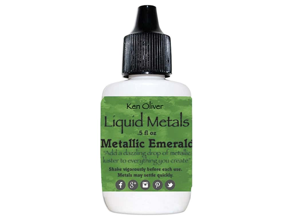 Contact Crafts Ken Oliver Liquid Metals .5 oz Metallic Emerald