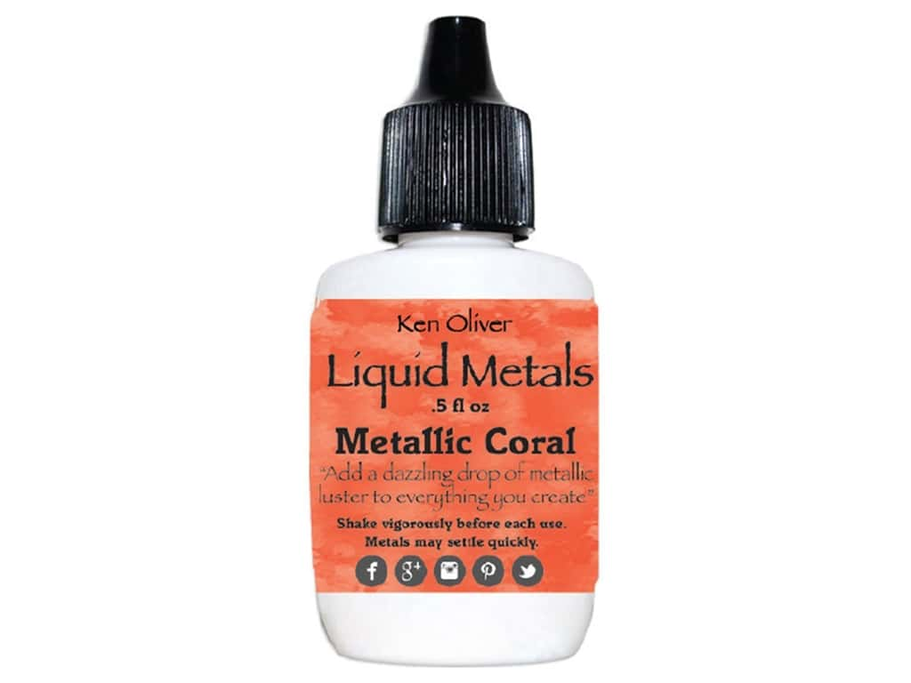 Contact Crafts Ken Oliver Liquid Metals .5 oz Metallic Coral