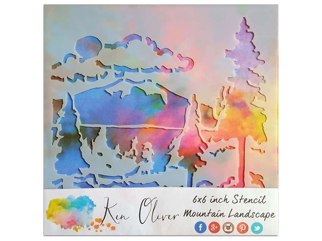Contact Crafts Ken Oliver Stencil 6 in. x 6 in. Mountain Landscape