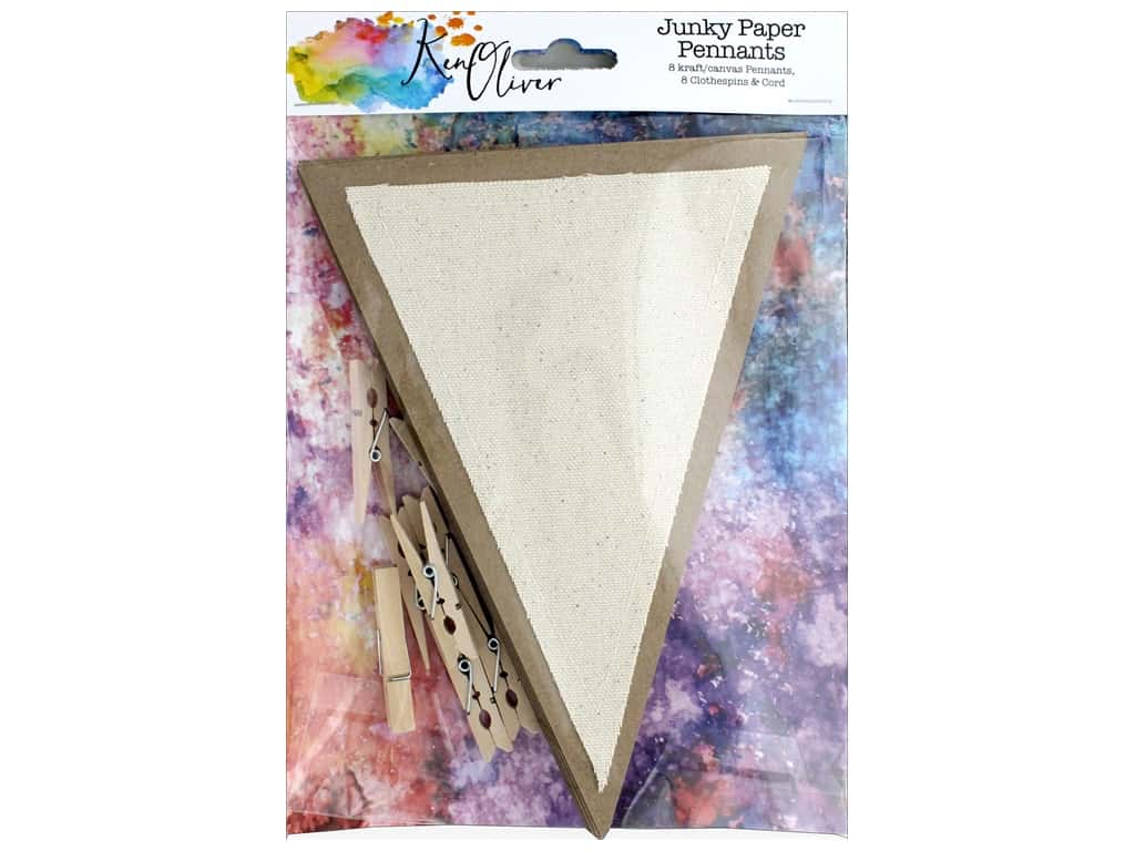 Canvas Corp Ken Oliver Junky Paper Pennants