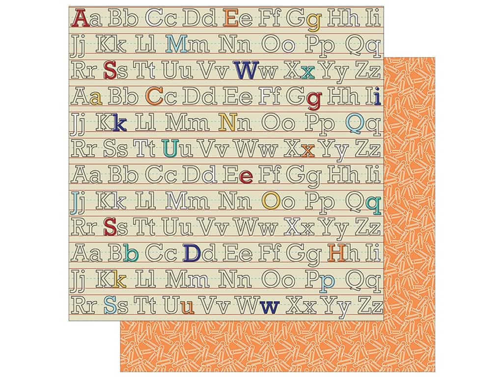Simple Stories Collection Old School Paper  12 in. x 12 in. Hall Pass (25 pieces)