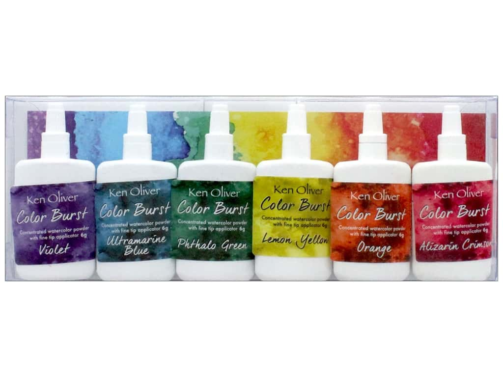 Contact Crafts Ken Oliver Color Burst Set 6pc Brights