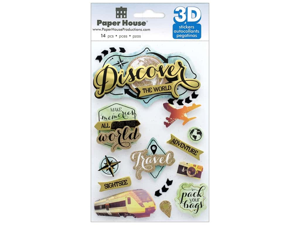 Paper House Sticker 3D Discover The World