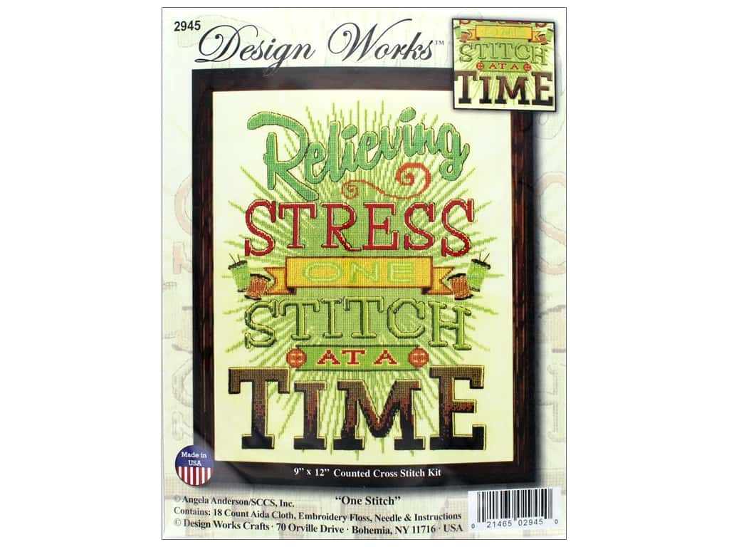Design Works Counted Cross Stitch Kit 9 x 12 in. One Stitch