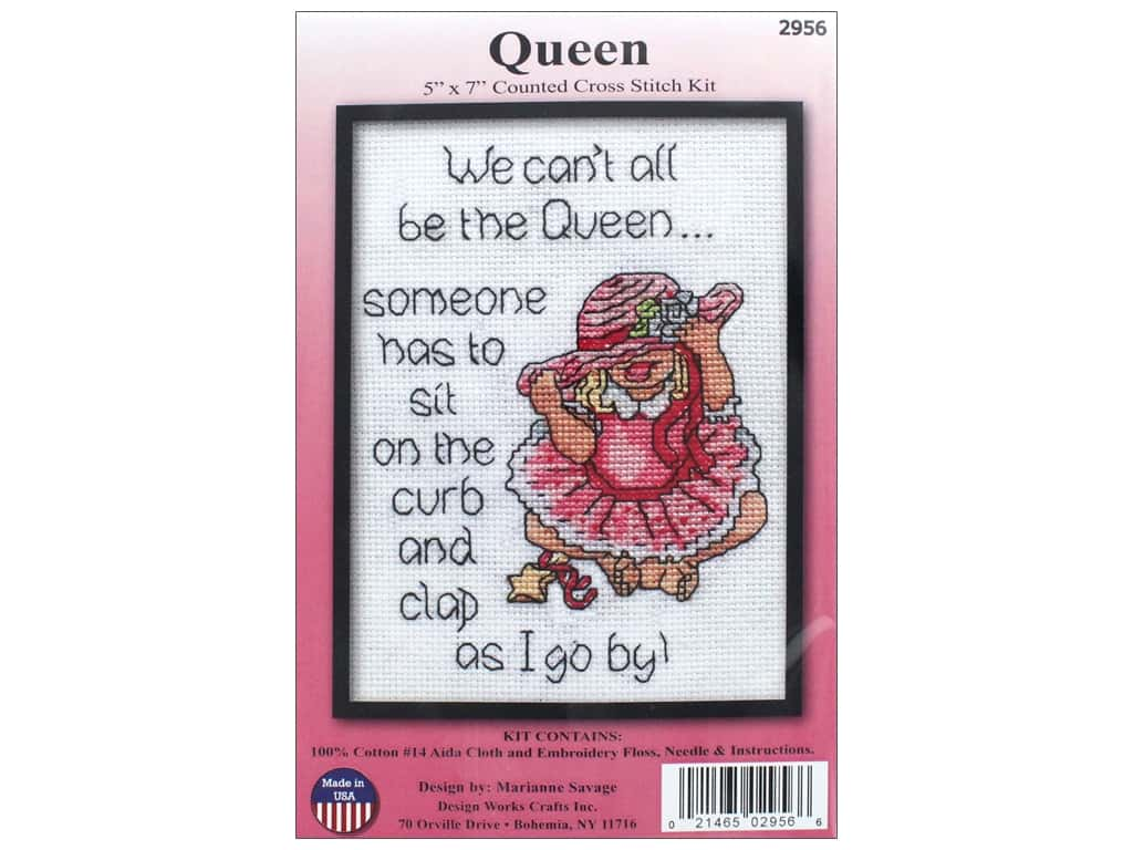Design Works Counted Cross Stitch Kit 5 x 7 in. Queen