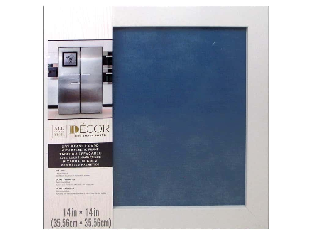 Darice Dry Erase Board 14 x 14 in. White & Blue Jean