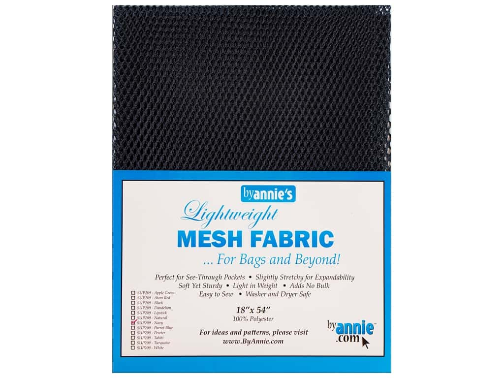By Annie Lightweight Mesh Fabric 18 x 54 in. Navy