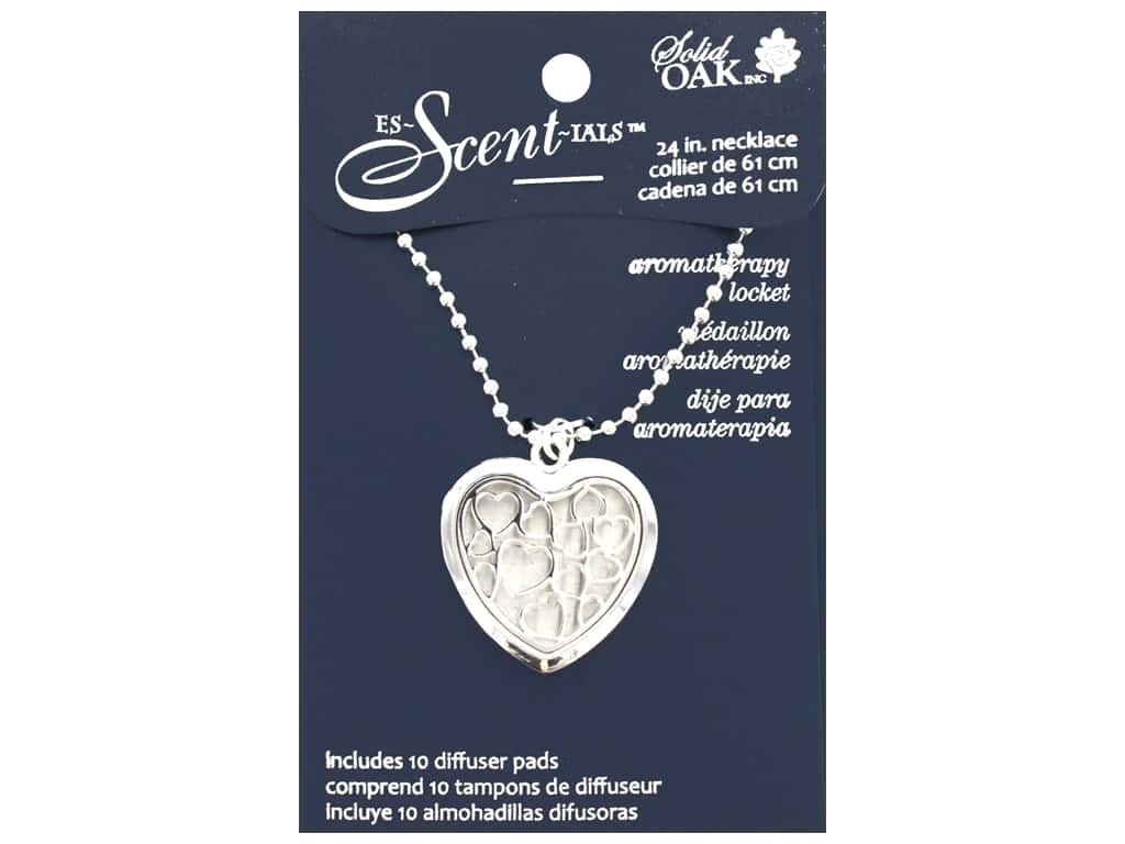Solid Oak Locket Es-Scent-ials Heart Small Hearts