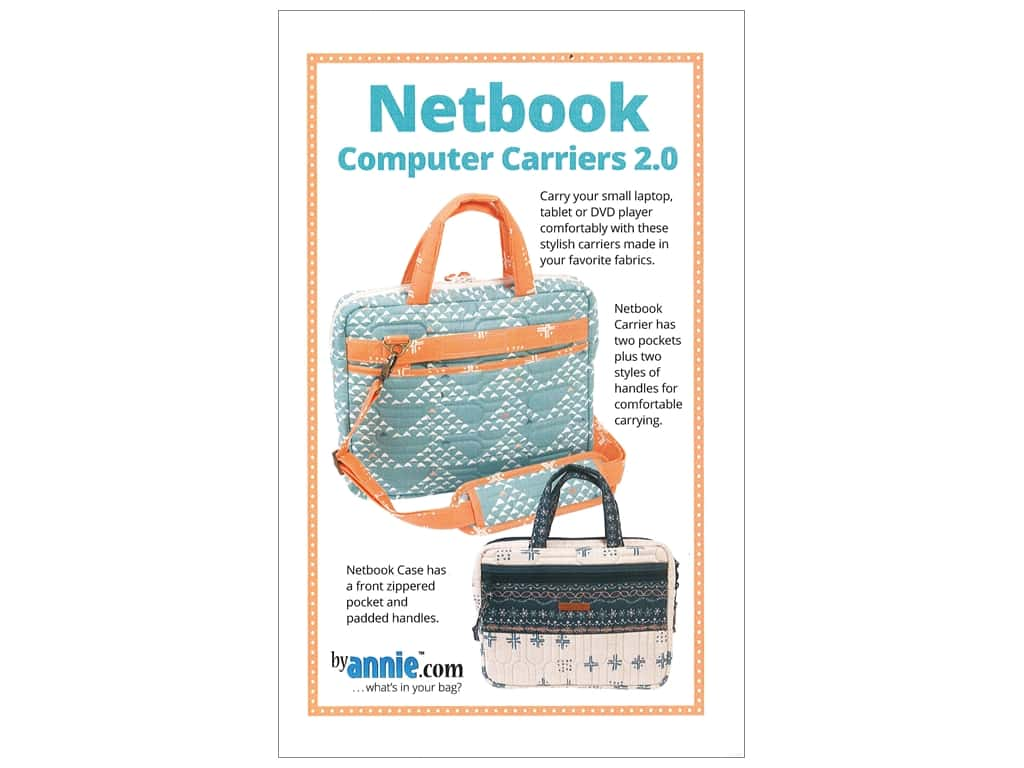 By Annie Netbook Computer Carriers 2.0 Pattern