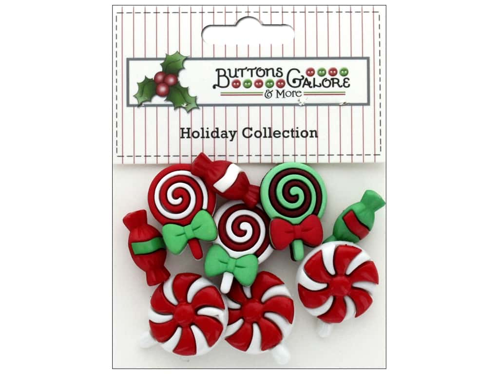 Buttons Galore Theme Button Holiday Christmas Candy