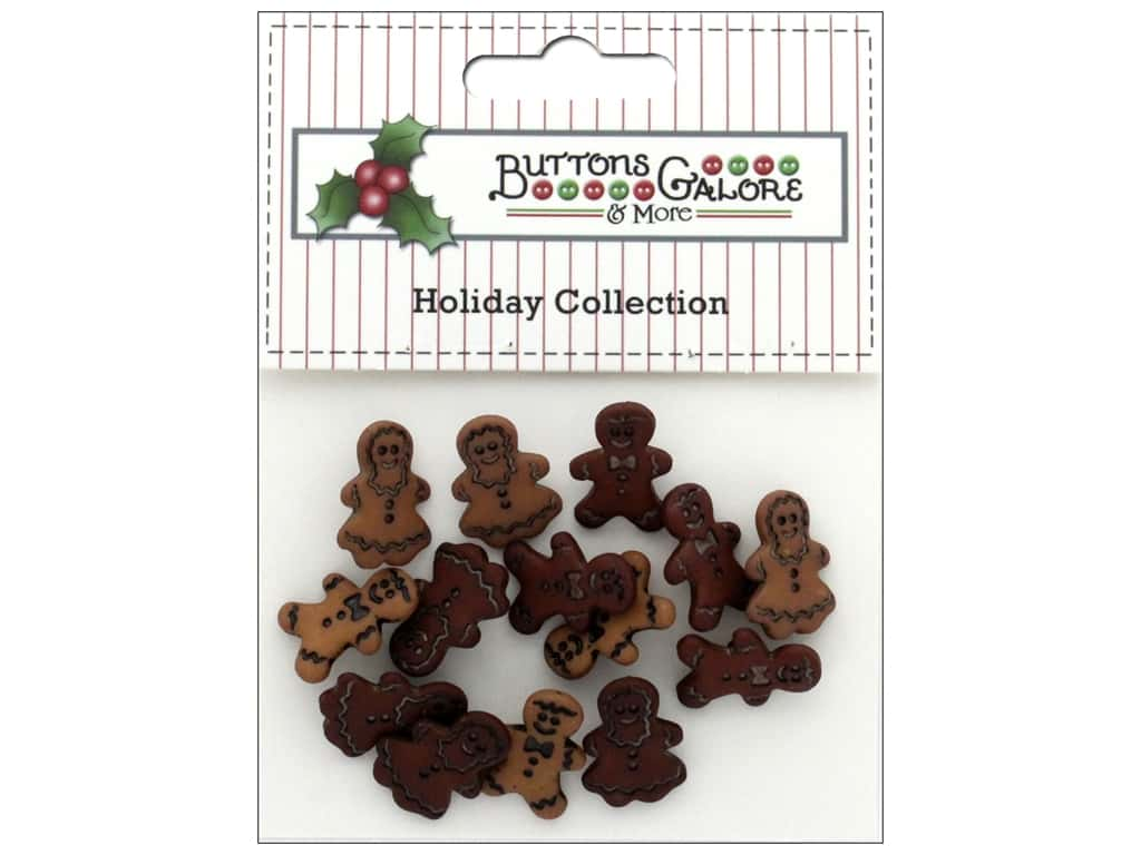 Buttons Galore Theme Button Holiday Little Gingerbread
