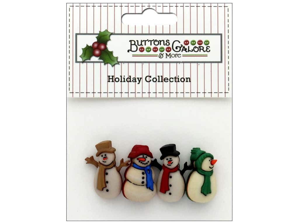 Buttons Galore Theme Button Holiday Old Fashion Snowman