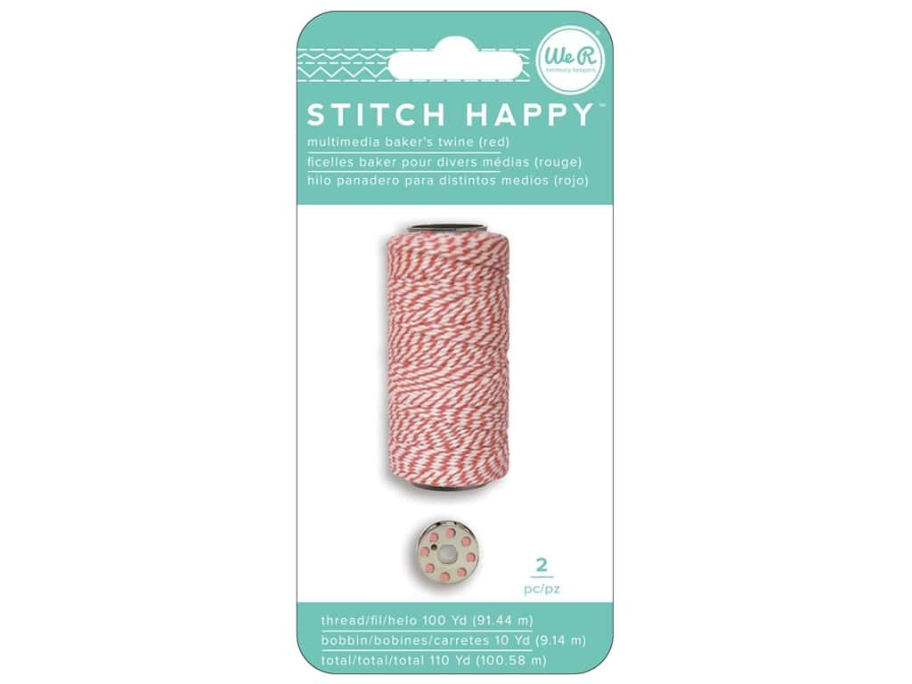 We R Memory Keepers Stitch Happy Baker's Twine Red