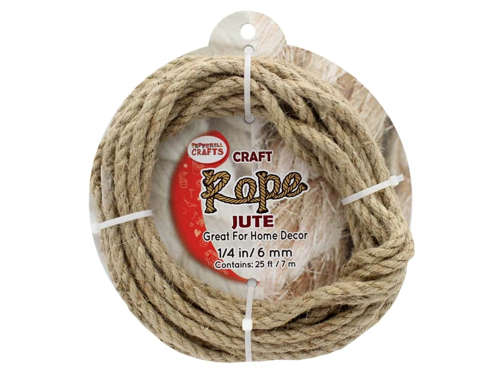 """Pepperell Craft Rope Jute 1/4"""" 25ft"""