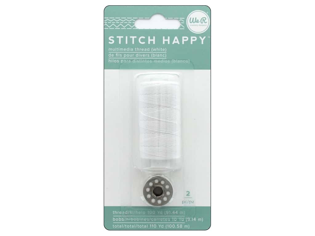 We R Memory Keepers Stitch Happy Thread White