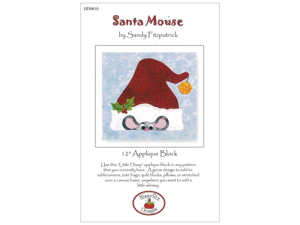 Hissyfitz Designs Santa Mouse Pattern