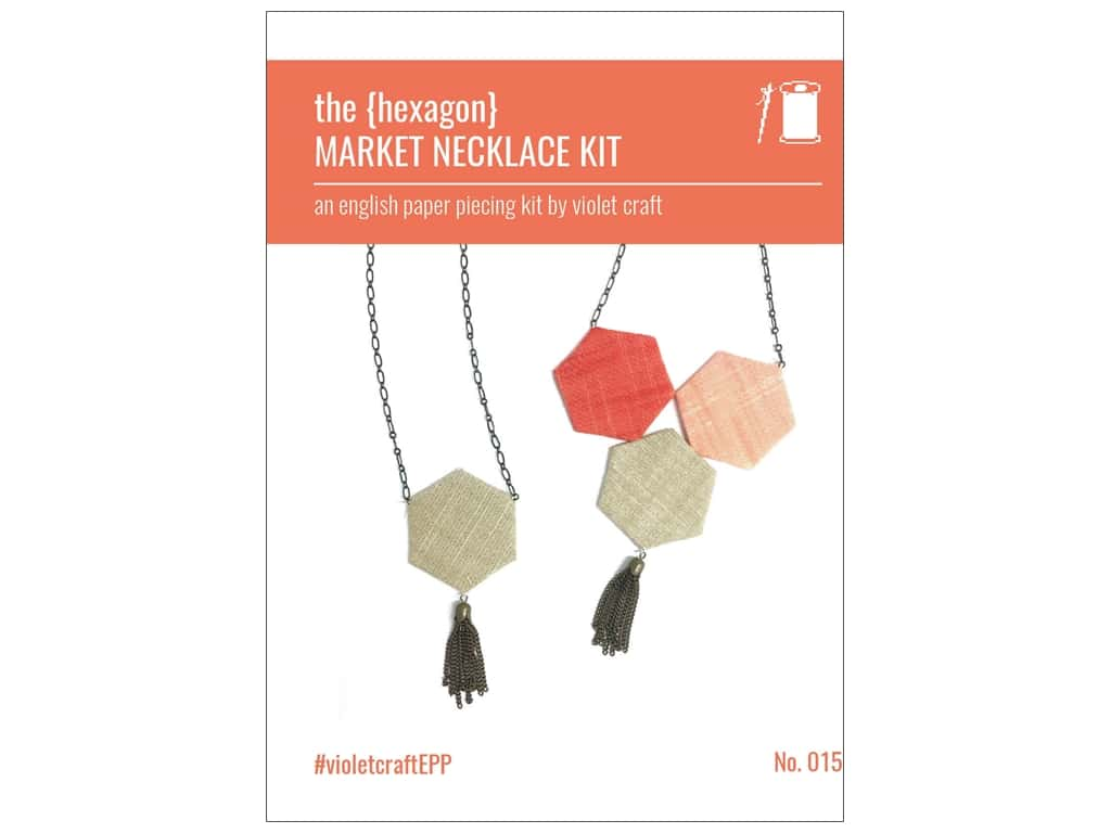 Violet Craft Notions Market Necklace Kit Hexagon