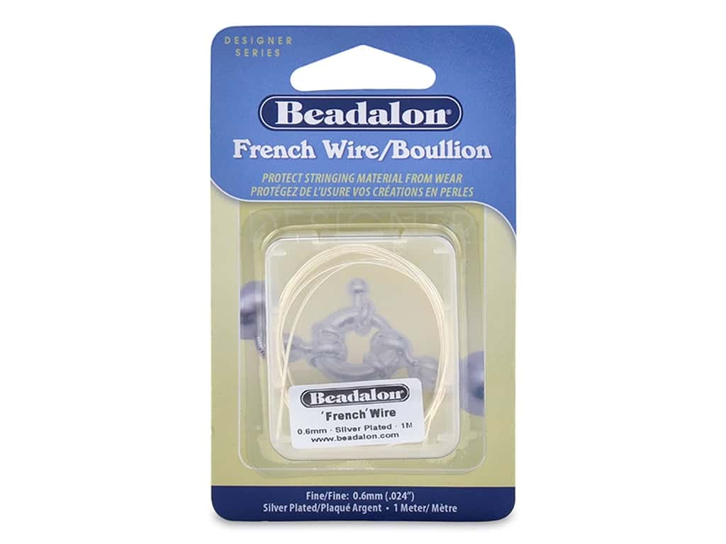 Beadalon French Wire Fine .6 mm 1 M Silver Plate
