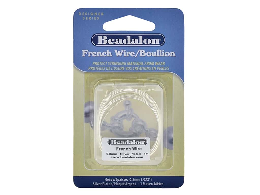 Beadalon French Wire Heavy .8 mm 1 M Silver Plate