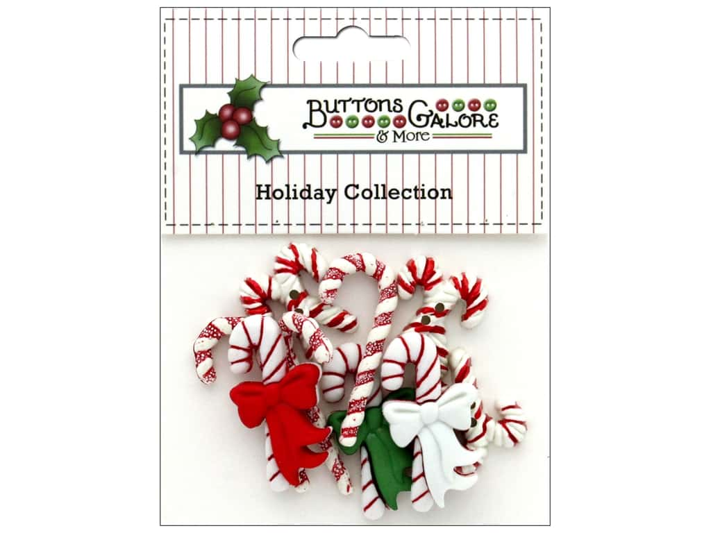 Buttons Galore Theme Button Holiday Candy Cane Lane