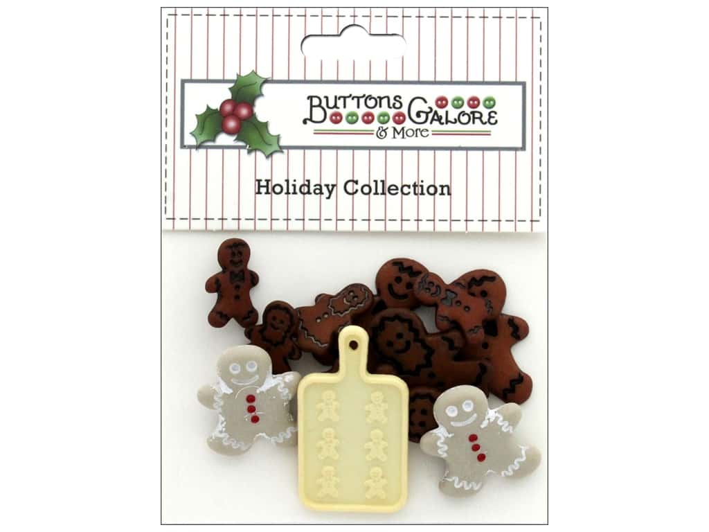 Buttons Galore Theme Button Holiday Gingerbread Cookies
