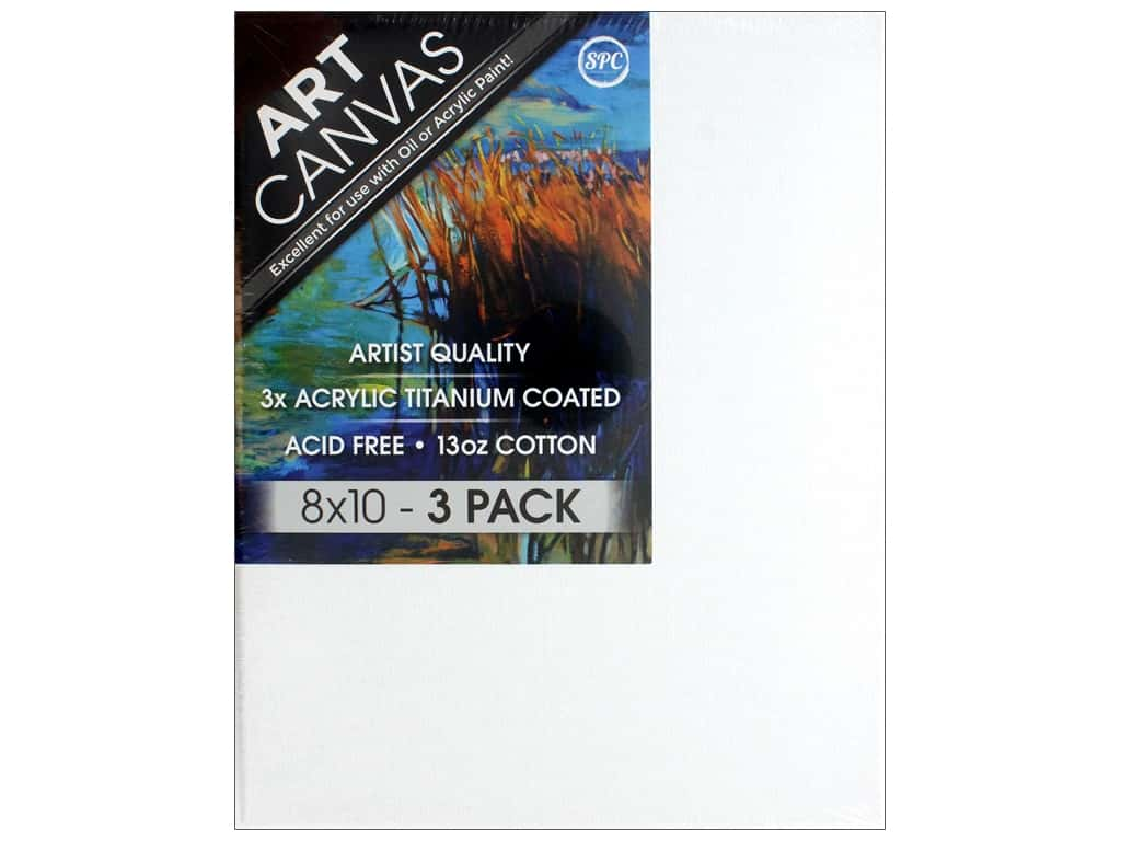 Sierra Pacific Crafts Canvas 8 in. x 10 in. x .75 in. Profile Triple Pack