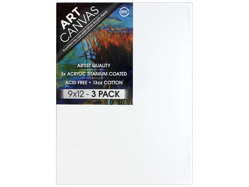 Sierra Pacific Crafts Canvas 9 in. x 12 in. x .75 in.  Profile Triple Pack