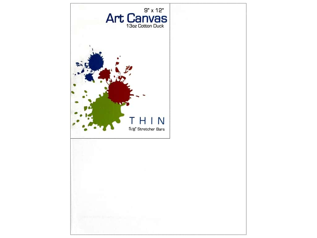 Sierra Pacific Crafts Canvas Thin 9 in. x 12 in. x 5/8 in. Primed 13 oz