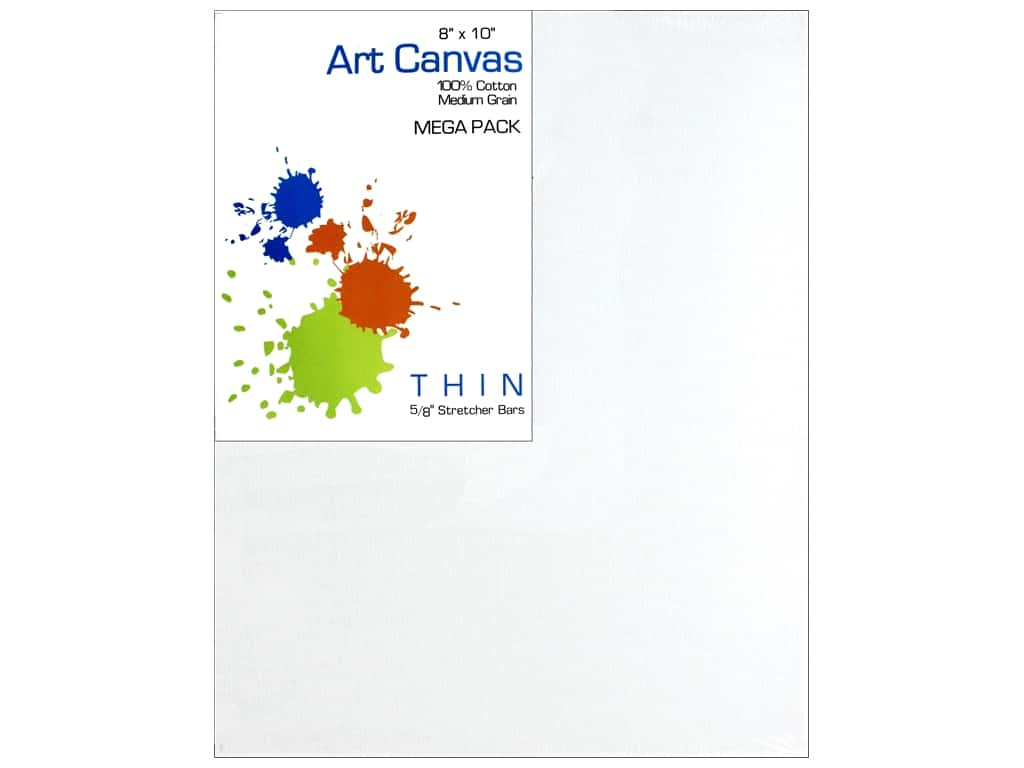 Sierra Pacific Crafts Canvas 3 mm 8 in. x 10 in. Mega Pack 10 pc