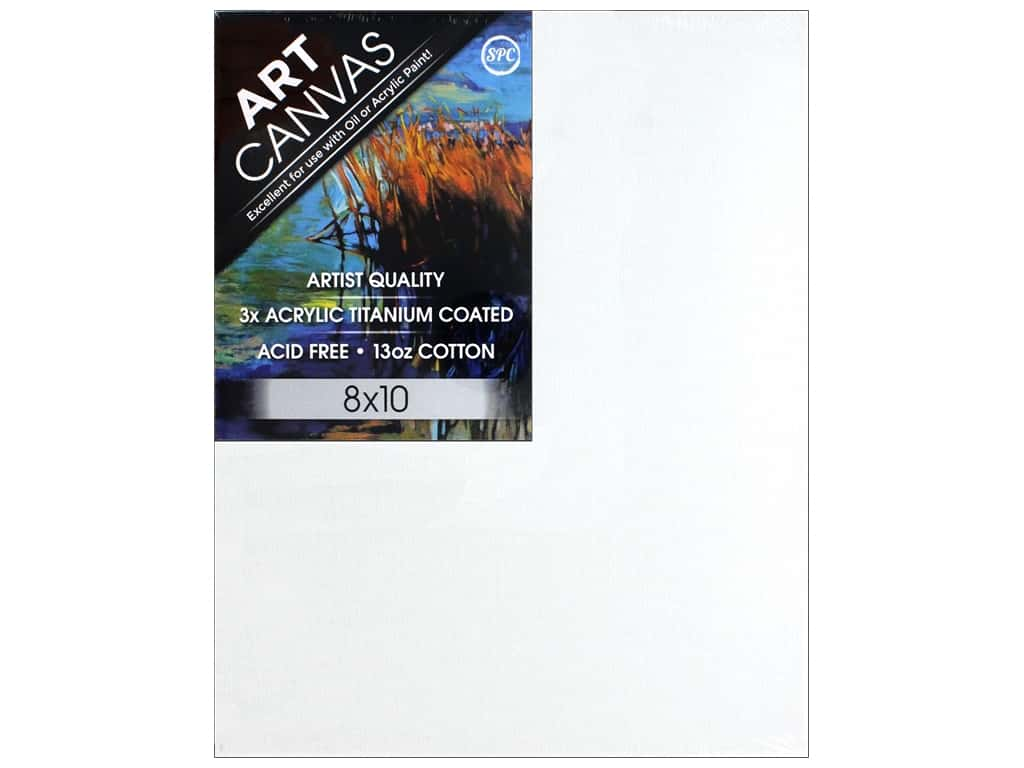 Sierra Pacific Crafts Canvas Thin 8 in. x 10 in. x 5/8 in. Primed 13 oz