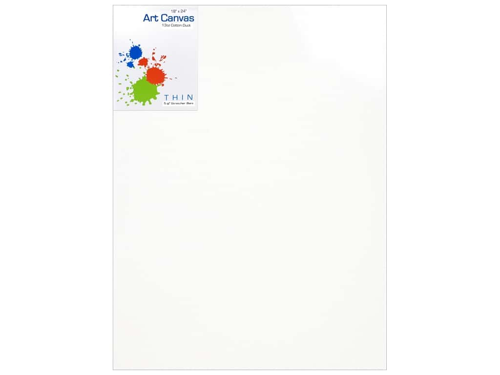 Sierra Pacific Crafts Canvas Thin 18 in. x 24 in. x 5/8 in.  Primed 13 oz