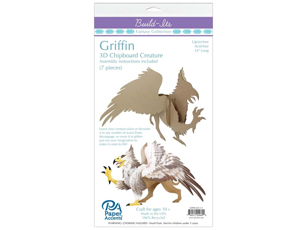 """Paper Accents Build Its Griffin 10"""" Tall"""