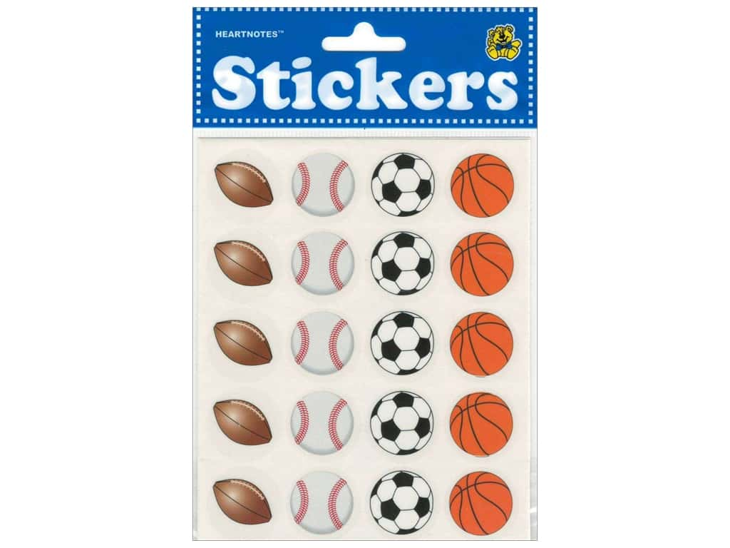 Heartnotes Sticker Sports Balls