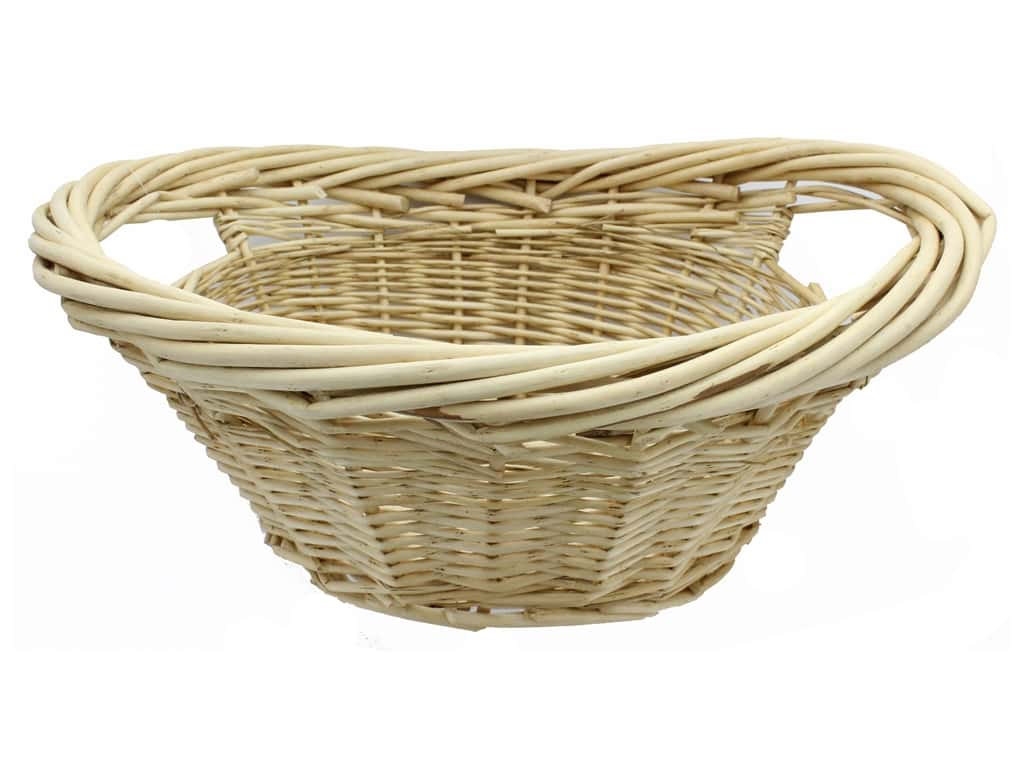 Sierra Pacific Crafts Storage Willow Basket Mini Laundry With Handles Natural