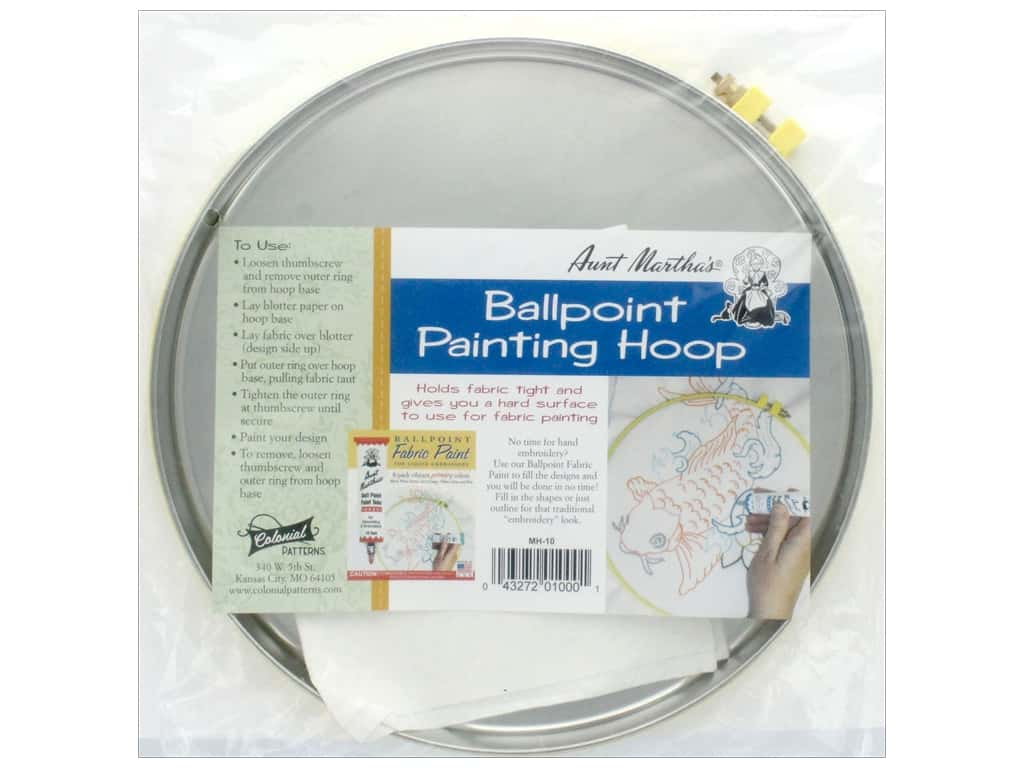 Aunt Martha's 10 in. Ballpoint Paint Hoop with Blotter