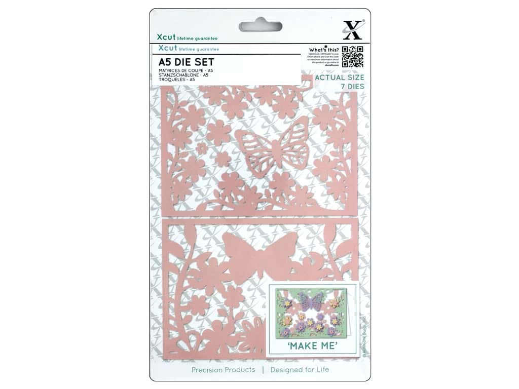 Docrafts Xcut Die A5 Set Wild Butterfly 7pc